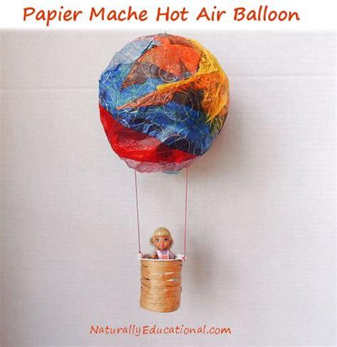 Paper Mache Balloon Crafts - air balloon craft inspired by american saige