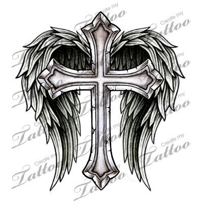 cross and wings tattoo designs best 25 cross with wings ideas on