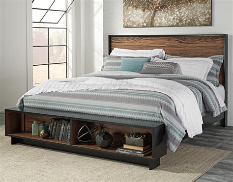 platform bed ashley furniture signature design by ashley stavani king platform bed w