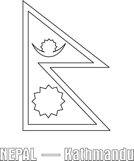 nepal map coloring page nepal flag free coloring pages