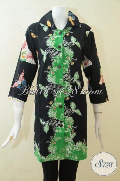 desain baju batik hijau blus batik halus dasar hitam baju batik kombinasi warna