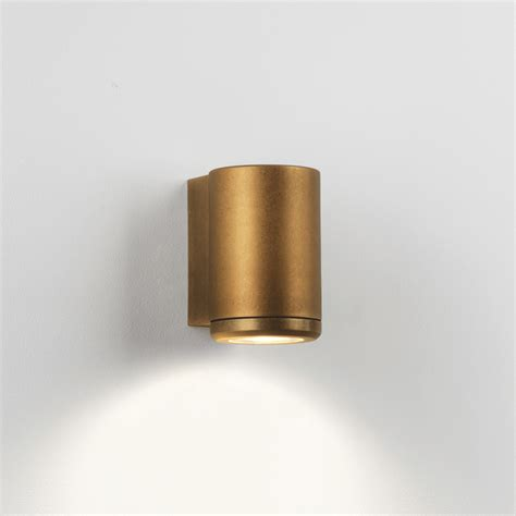 Astro Lighting 7806 Jura Single IP44 Coastal Exterior Brass Wall Light