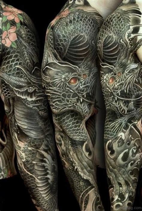 dragon tattoo ending 50 best dragon tattoos on full sleeve