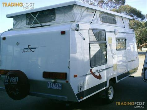 avan awning avan island bed ac awning quot robina quot pop top caravan for sale in echuca vic avan