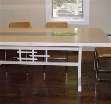 maple dining room table custom maple dining room table with trestle base by oak