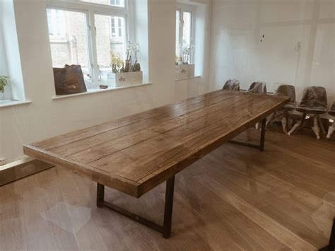 Wooden Meeting Table Quot Jules Quot Reclaimed Wood Meeting Boardroom Table Revive Joinery