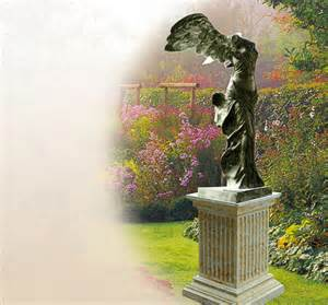 bronzefiguren garten nike samothrake bronzefiguren f 252 r den garten