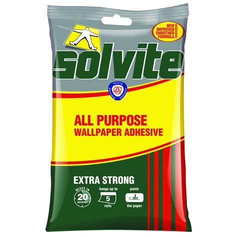 adhesive wallpaper solvite wallpaper all purpose adhesive extra strong 92g at