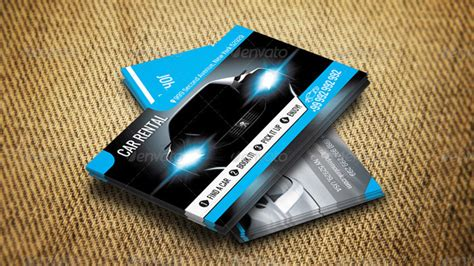 rent a car business card template free 20 best premium printable car template