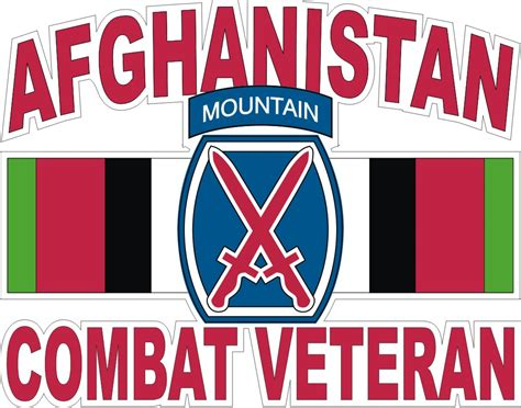 Kyle Cutting Sticker Us Army 10th Mountain Division 10th mountain division afghanistan combat veteran with