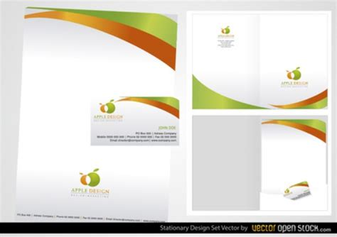 business card and letterhead vector stationery business card design vector free