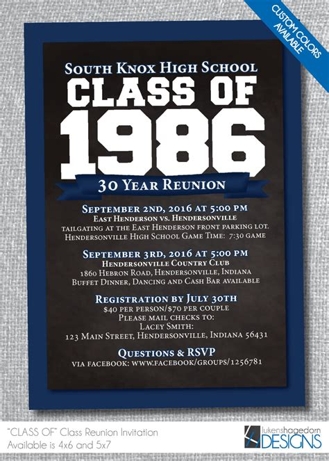 rookie of the year color edition high flyers books class reunion invitation custom school colors digital file