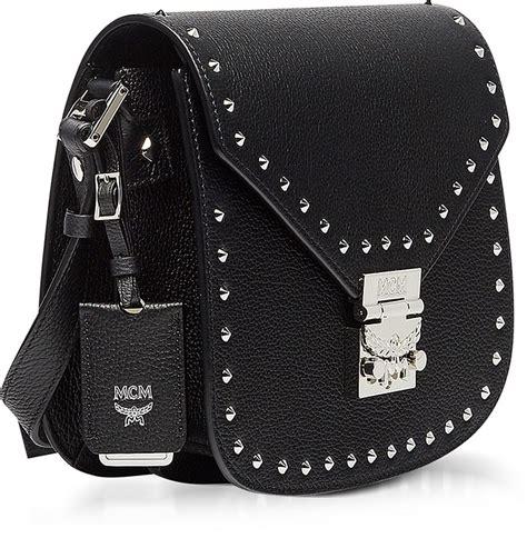 Tas Fashion Studded Hardware 106 mcm black studded outline park avenue small shoulder bag modesens