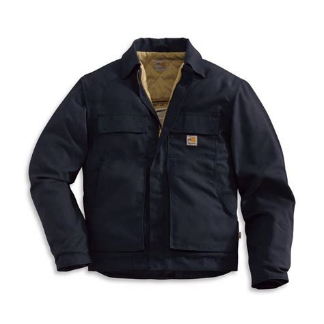 Sweater Frj Navy Carhartt Resistant Lanyard Access Jacket Quilt