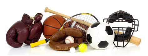 Sports equipment on white sports psychology today