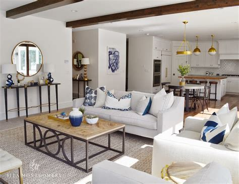 living rooms with white sofas white sofa with navy pillows transitional living room