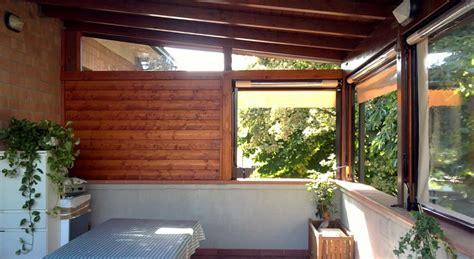 tettoia su terrazzo tettoia su terrazzo con chiusure parziali san cesario mo