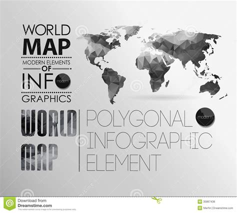 world information world map and information graphics stock vector