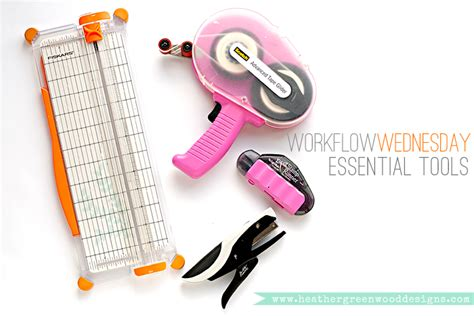 Essential Scrapbooking Tools by Workflow Wednesday Additional Essential Tools For Pocket