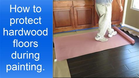 protecting hardwood floors how to protect hardwood floors during painting the