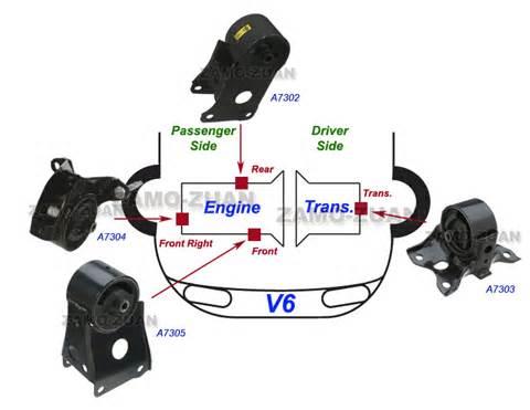 fits 1995 2001 nissan maxima 3 0l motor trans mount set 4pcs auto w o sensor ebay