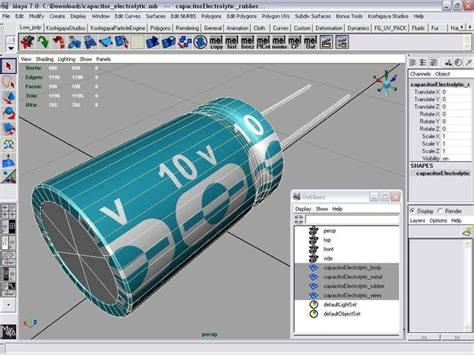 electrolytic capacitor maximum current 3d model electrolytic capacitor vr ar low poly max obj fbx ma mb cgtrader