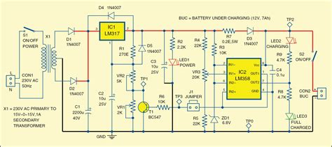 inverter battery charger circuit diagram simple battery charge controller circuit using lm324