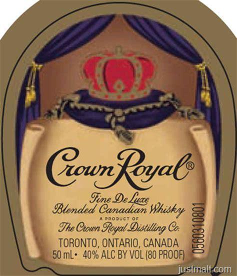 printable crown royal label just malt september 2012