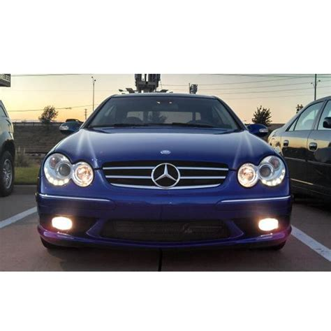 mercedes led headlights hid xenon 03 09 mercedes clk w209 eye halo