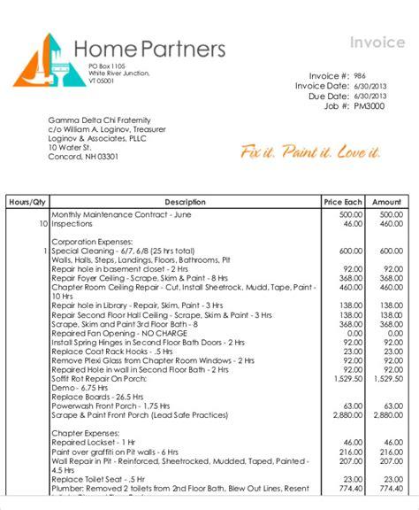 sle invoice for painting job 35 free invoice templates free premium templates