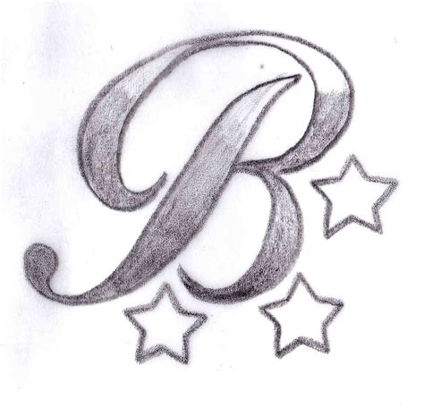 cool letter designs for tattoos butler b design