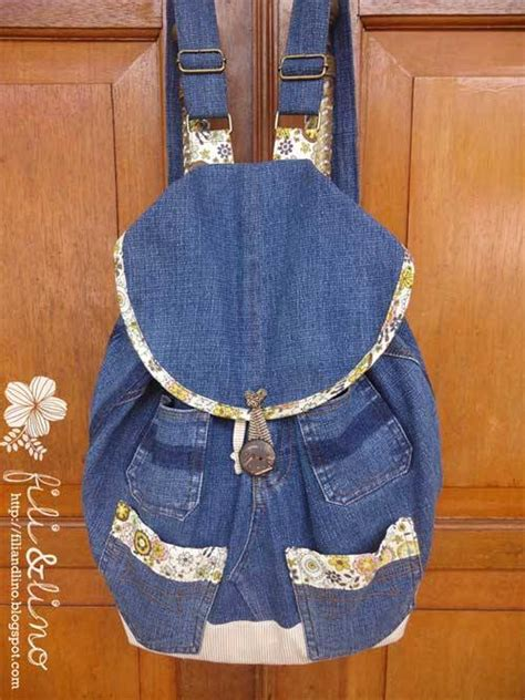 pattern for jeans bag denim backpack free sewing tutorial