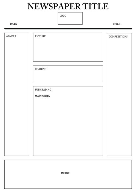 design a front cover ks2 lovely ks2 newspaper template images resume ideas