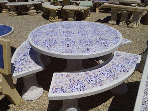 mesas de jardin redondas mesa jardin redonda 120cm mosaico parra de