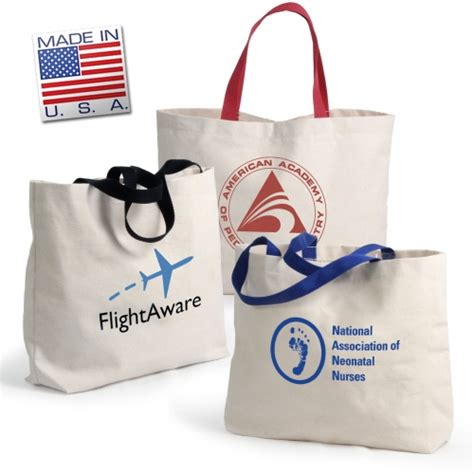 Tote Bag Usa usa made canvas tote bag 20 quot handles promotions