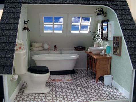 Miniature Dollhouse Bathrooms Dollhouse Of The Month My Small Obsession