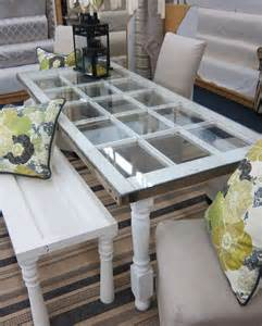 Old Door Ideas Pinterest Table Made From An Old French Door Bench Made From A