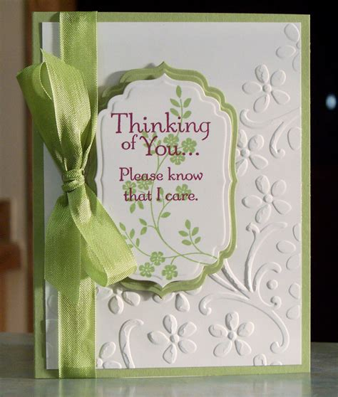Sympathy Cards Handmade - handmade sympathy card stin up thoughts by