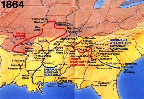 1864 American Civil War Battles Timeline