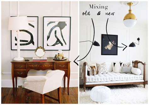 mixing antique contemporary decor pieces