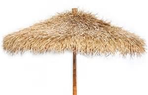 ft Folding Bamboo & Sea grass Tropical Umbrella