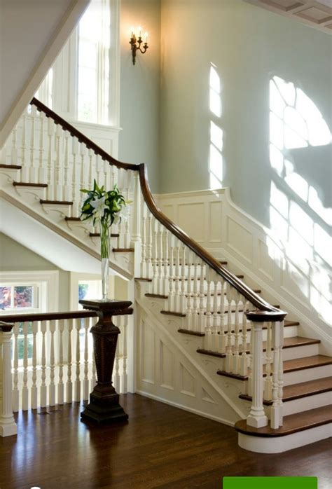 restored staircase  georgian colonial home  toronto