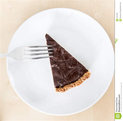 best slice of slice of chocolate and marron glac 233 s cake stock image