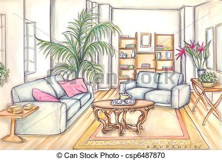 living room furniture stock illustration search clipart