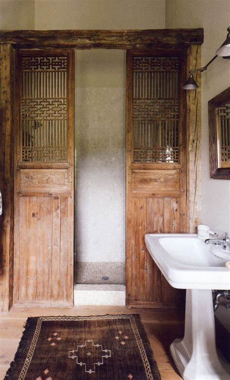 rustic shower doors pin by plum pretty sugar on bath rooms