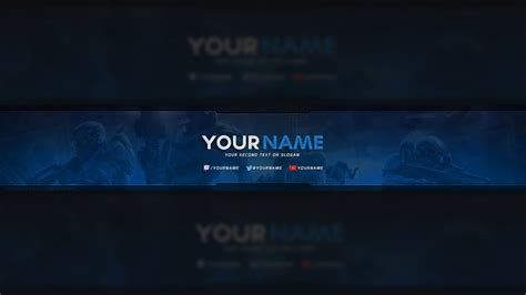 Free Halo Youtube Banner Template Psd Youtube Gaming Banner Template Psd