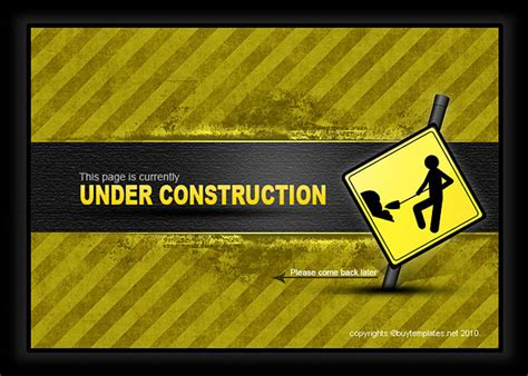Underconstruction Template site construction web page template