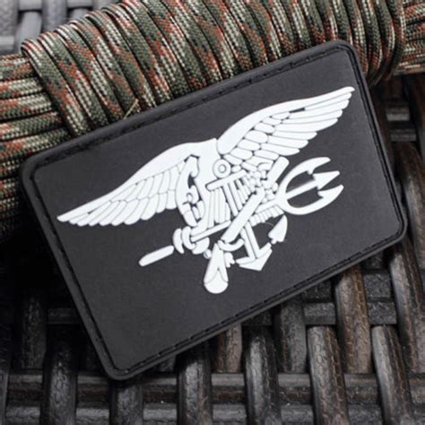 Rubber Patch Rubber Perekat Karet Pvc Airsoft Sniper Us Navy Seal Team Trident 3d Pvc Army Morale Rubber Velcro
