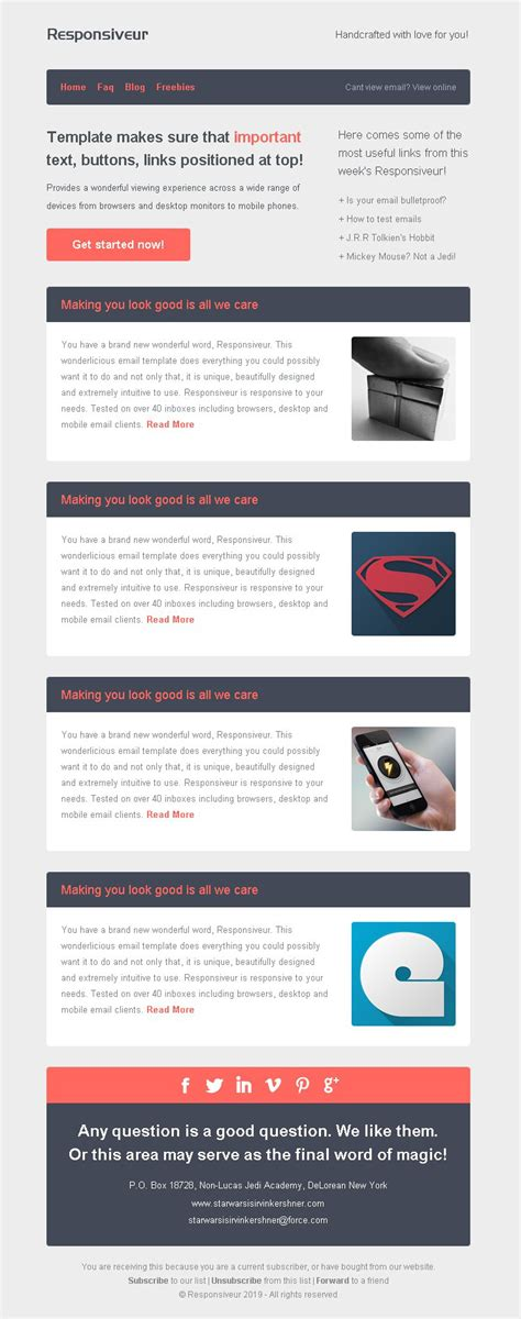 responsiveur responsive email newsletter templates by