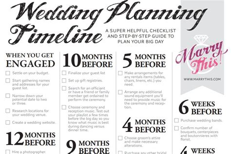 Wedding Checklist Printable by 11 Free Printable Checklists For Your Wedding Timeline